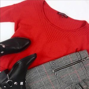 Comptoir Des Cotonniers Red Wool Sweater